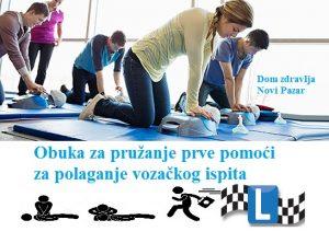 Nova niža cijena obuke za pružanje prve pomoći za polaganje vozačkog ispita – 2000 dinara